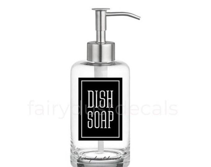 10% off sale Dish Soap Label for dispenser bottle, square design vinyl decal