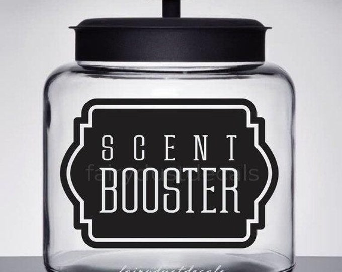 10% off sale Laundry Decal, Scent Booster Canister Label, Farmhouse Laundry, Vinyl Decal, Softener Decal, Scent Booster Sticker, Glass Jar L