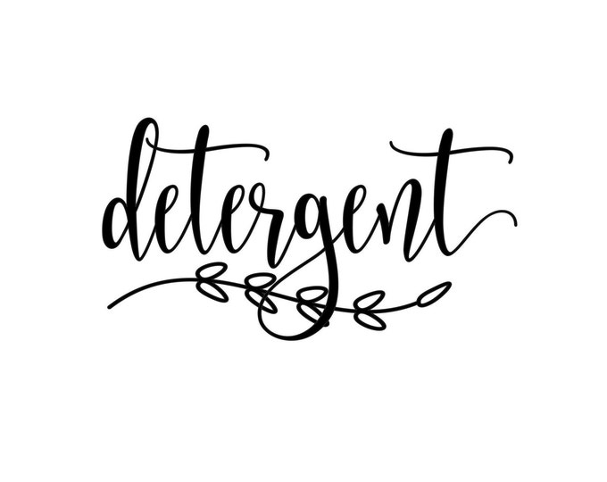 Detergent Canister Label, Laundry Vinyl Decal, Laundry Detergent Sticker, detergent vinyl decal, farmhouse laundry decor