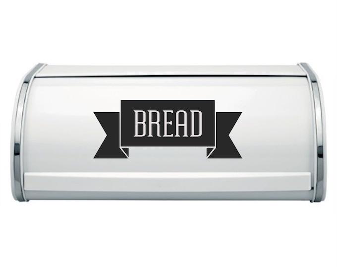 Bread Box Label, vinyl decal for bread holder, farmhouse kitchen decor