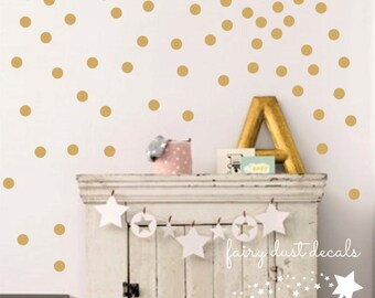 Dot Decals, dorm room decor, set of 100 polka dot vinyl stickers, peel and stick, college campus decor