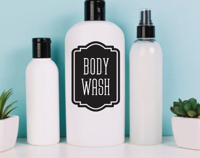 Body Wash Soap Dispenser Bottle Label, Vinyl Decal