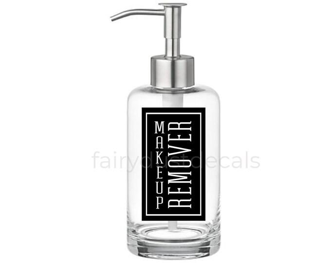 Makeup Remover Label for dispenser bottle, makeup vinyl decal, maleup remover sticker