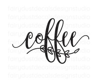 Coffee Decal, canister sticker, home pantry organization, kitchen food storage label, coffee lover, coffee container label