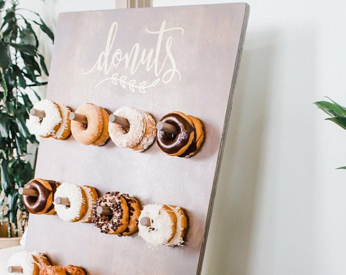 Donuts sign decal, doughnuts vinyl sticker, donut wall decal