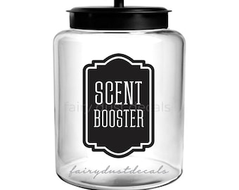 Scent Booster Laundry Canister Label, Farmhouse Laundry vinyl decal