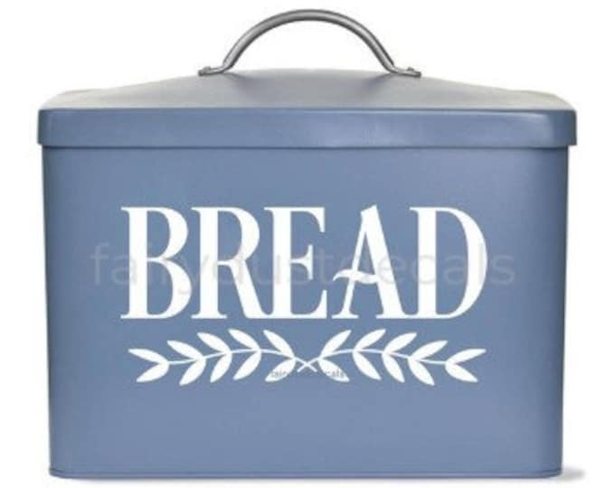 Bread Box Decal, vinyl sticker, bread box storage label, farmhouse style decor