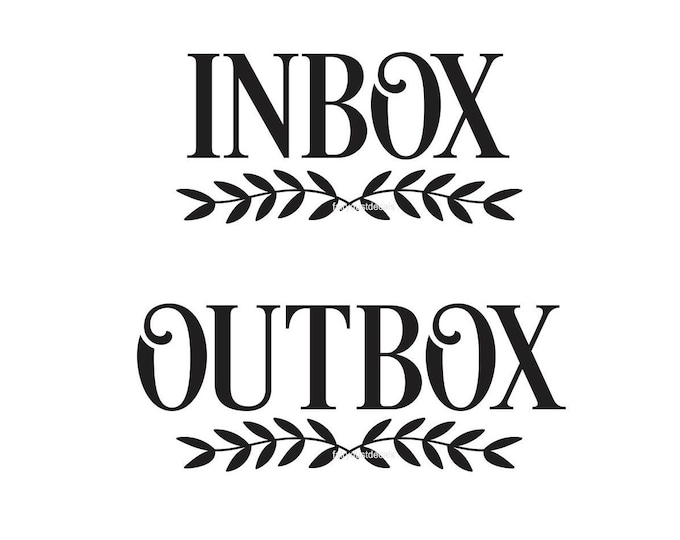 Inbox Outbox Decal Set, Home Organization, Command Center, small business office organization, Inbox Decal, Outbox Decal