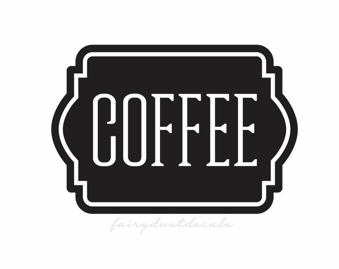 Coffee Label for Kitchen Canister Set, Coffee Vinyl Decal Sticker, Pantry Organization
