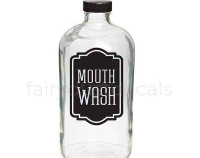 10% off sale Mouth Wash bottle label, vinyl decal, farmhouse bathroom decor, mouth wash vinyl decal for bathroom vanity