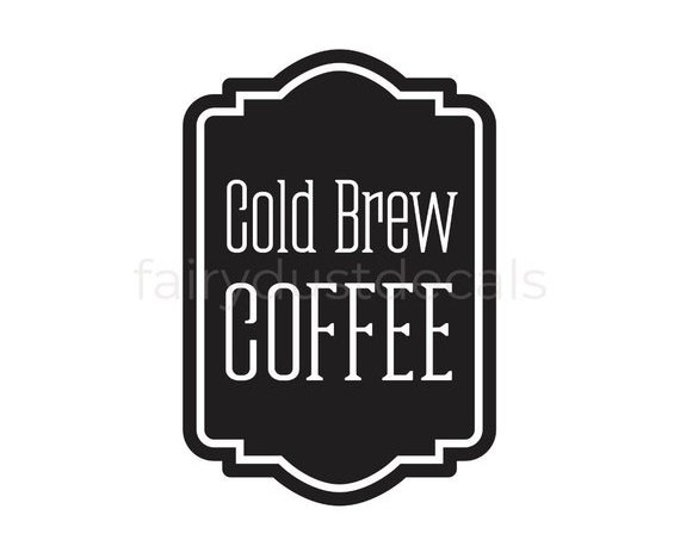 10% off sale Coffee Label, Carafe Decal, vinyl decal for wedding drink station, coffee bar vinyl decal, cold brew coffee decal