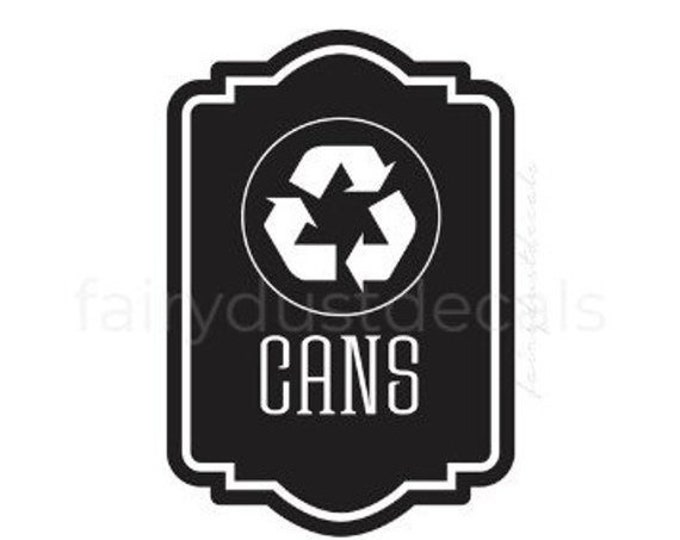 10% off sale Recycle Cans vinyl decal for trash bin, Recycle Tote Sticker, recycling symbol, vinyl decal for garbage barrel