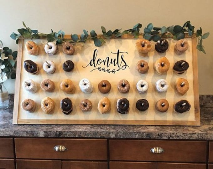 Featured listing image: Donuts decal, doughnuts vinyl sticker, decal for donuts wall, wedding chalkboard sign decal