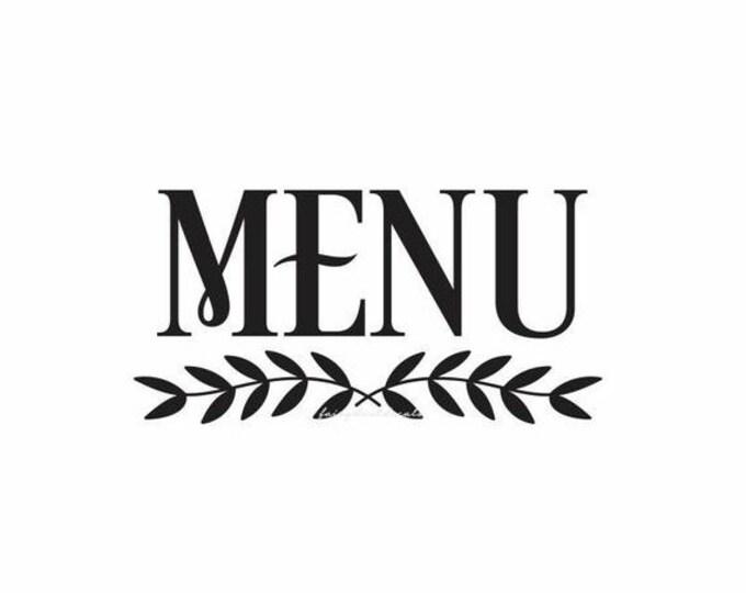 10% off sale Menu Sticker Decal for chalkboard sign, menu vinyl sticker, wedding menu decal for sign