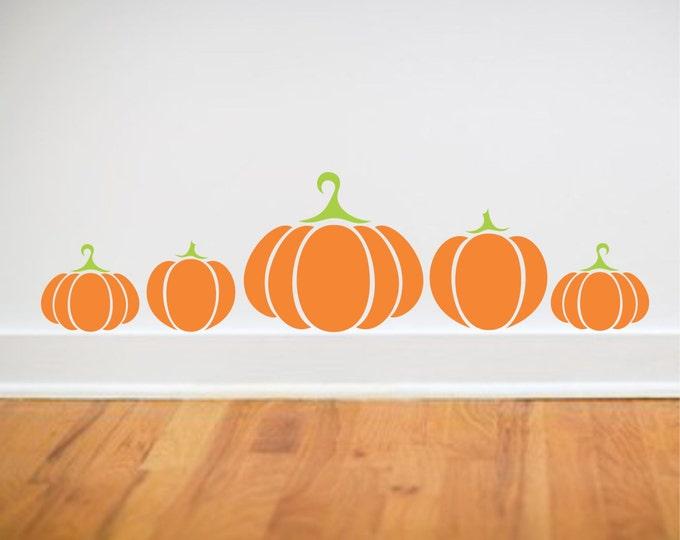 Pumpkin decals, fall and Halloween wall decor, pumpkin vinyl decals