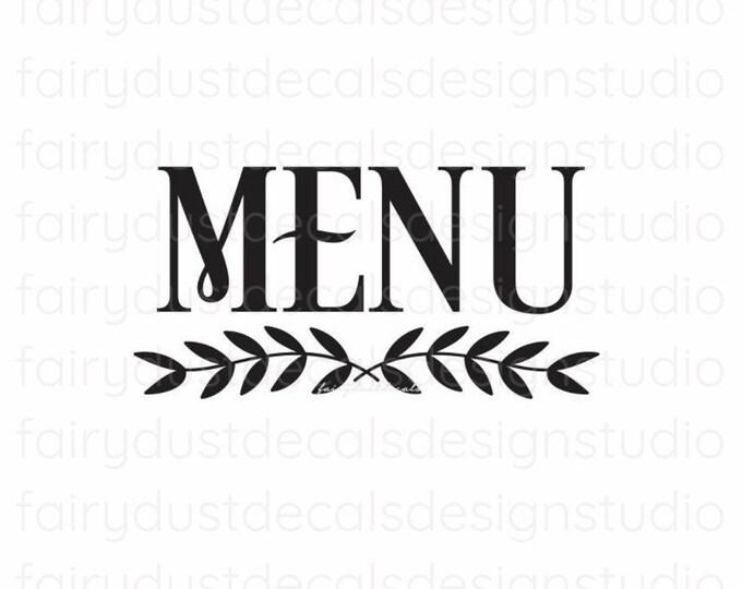 Menu Sticker Decal for chalkboard sign, menu vinyl sticker, wedding menu decal for sign, daily family dinner