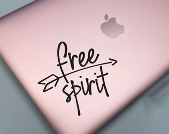 Free Spirit Decal, Dorm Room Decor, Laptop Sticker, Car Window Vinyl Decal, back to campus