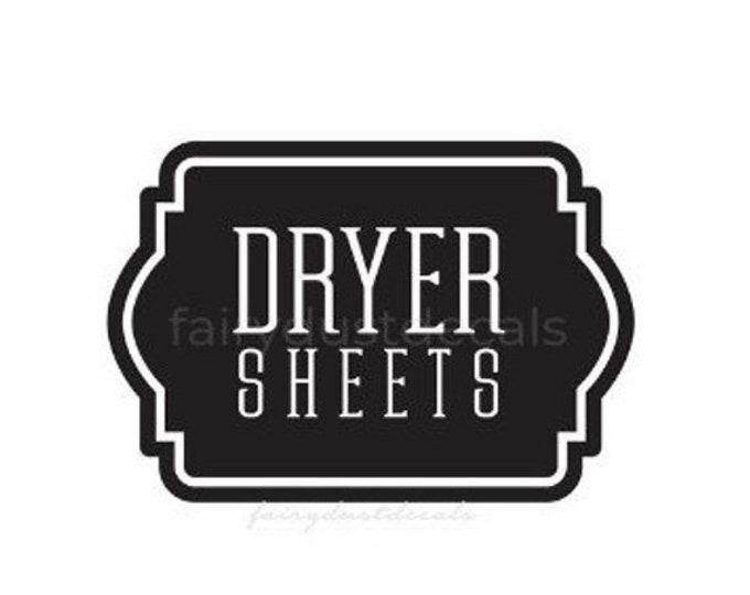 10% off sale Laundry Dryer Sheets Decal, Farmhouse Laundry Room Decor, Canister Label