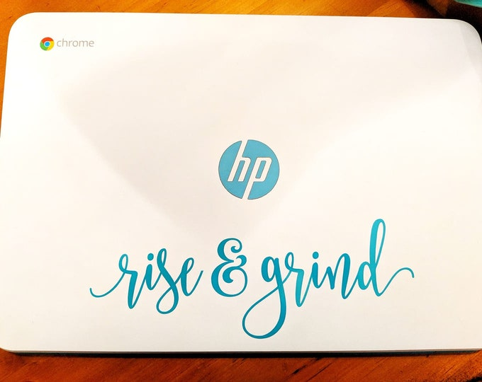 Rise and Grind Coffee Decal, vinyl lettering, coffee station sign, coffee shop wall decal