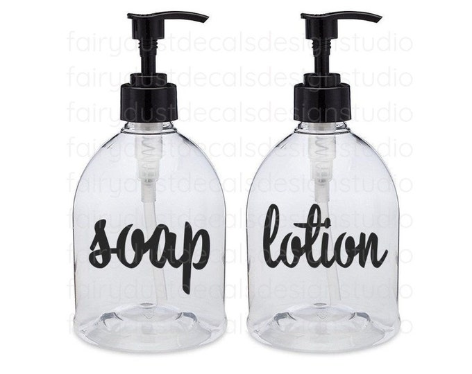 Soap and Lotion Label for dispenser bottles, soap and lotion vinyl decals