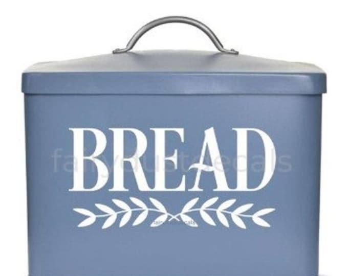10% off sale Bread Box Decal, vinyl sticker, bread label, bread box storage decal