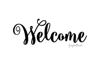 Welcome Decal, front door vinyl sticker, welcome sign vinyl decal