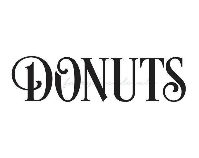 Donuts vinyl decal for wedding chalkboard sign