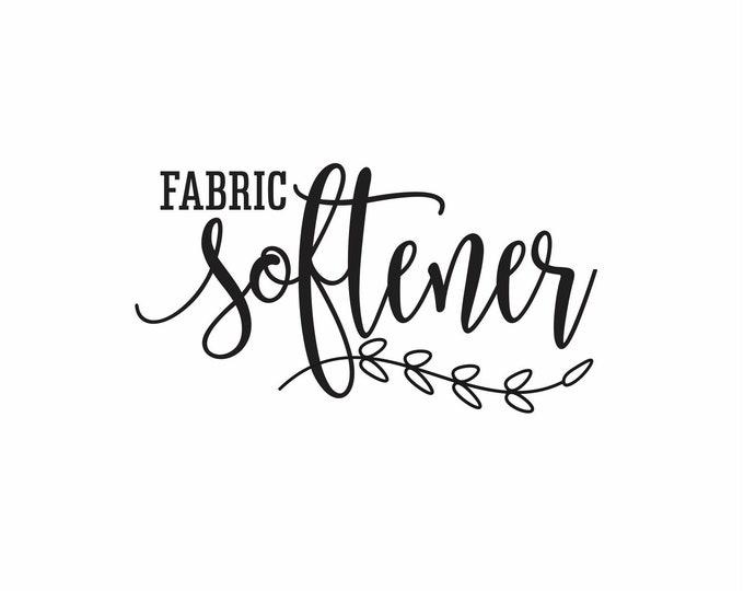 Laundry decal, fabric softener sticker, farmhouse laundry decor