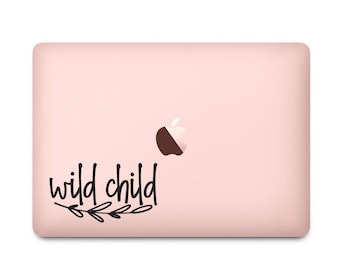 Wild Child Decal, Dorm Room Decor, Laptop Sticker, Car Window Vinyl Decal, Back to School