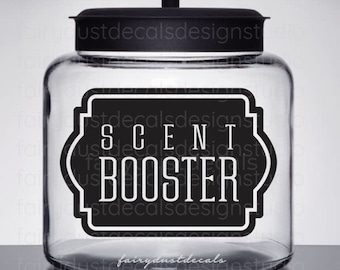 Scent Booster Vinyl Decal for Laundry Room, Canister Label