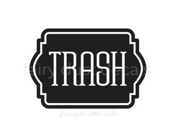 Recycle & Trash Decals