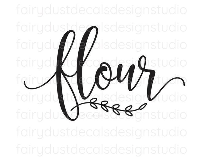 Flour Decal, canister sticker, home pantry organization, kitchen food storage label