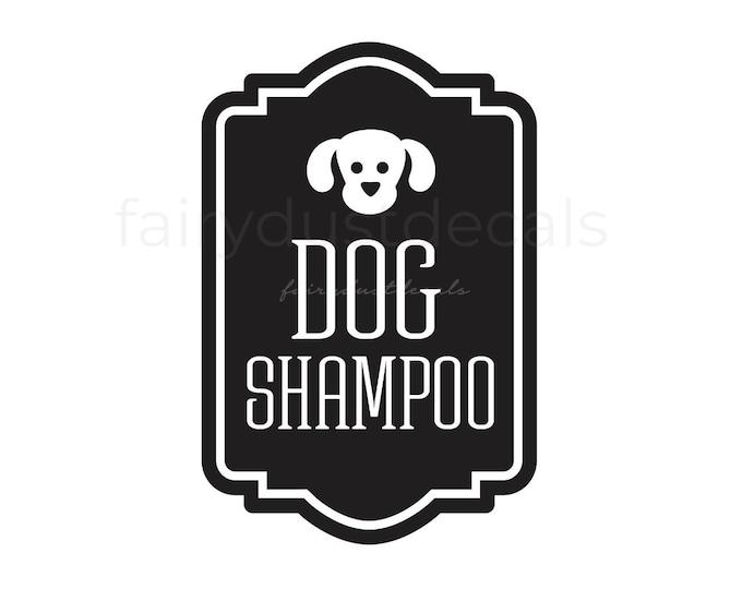 Dog Shampoo Bottle Decal, Dog Shampoo Dispenser Jar Sticker, Dog Shampoo Vinyl Decal, Pet Care Decal