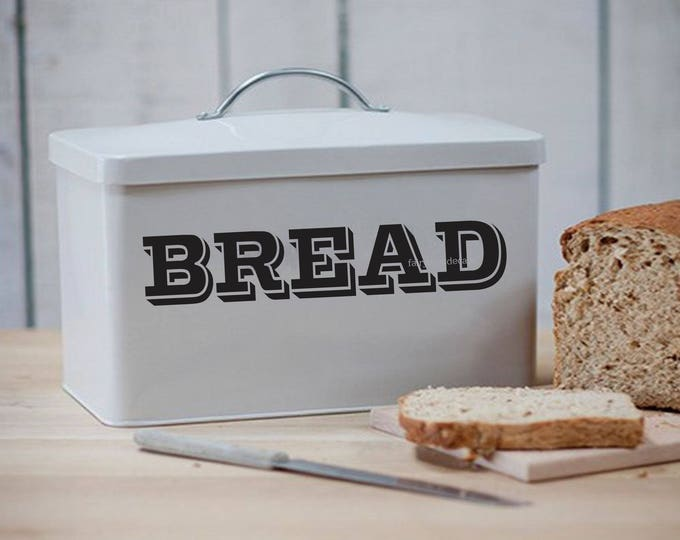 Bread Box Label, vinyl decal, farmhouse style kitchen decor, bread sticker