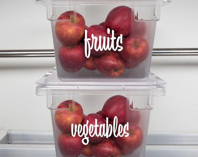 Kitchen Storage Labels, vinyl decals for clear acrylic plastic bines, refrigerator stickers, declutter, home organization, food storage