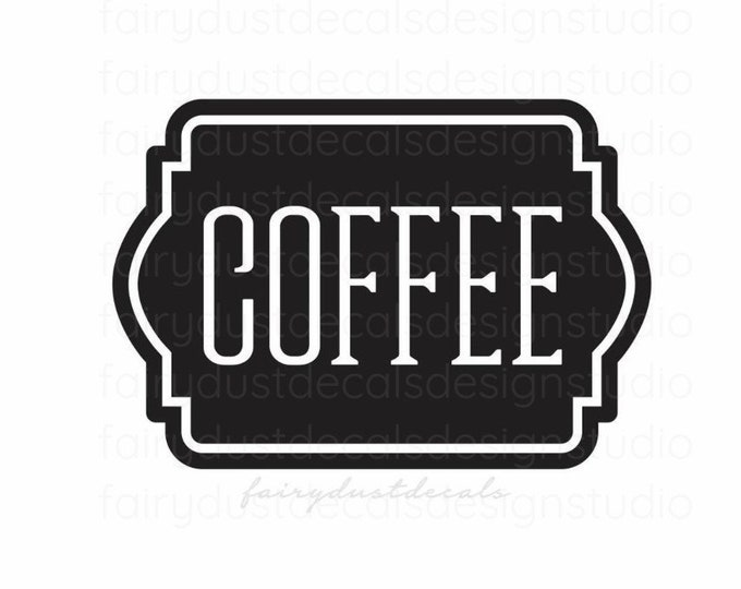 Coffee Canister Label, Coffee Vinyl Decal Sticker, Kitchen and Pantry Organization, Coffee Decal