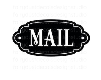 Mail Decal, command center, storage and organization, mail vinyl decal for container, mail sticker
