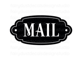 Mail Decal, command center, storage and organization, mail vinyl decal for container, mail sticker, free shipping