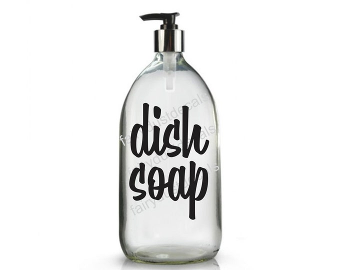 Dish Soap Label for dispenser bottle, vinyl decal