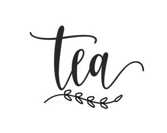 Tea Decal, canister sticker, home pantry organization, kitchen food storage label