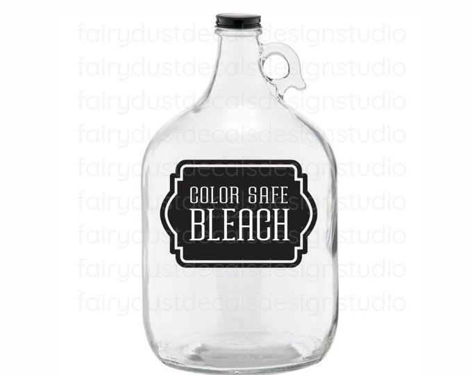Laundry Color Safe Bleach Label, farmhouse laundry decor, bleach decal for bottle, organize home laundry