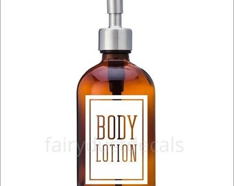 10% off sale Body Lotion Label for dispenser bottle, square design vinyl decal