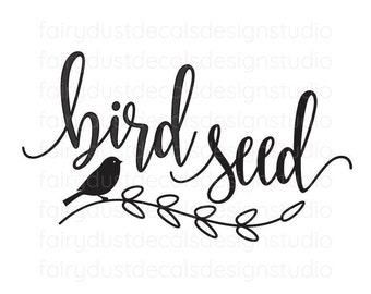 Bird Seed Canister Sticker, wild bird seed label