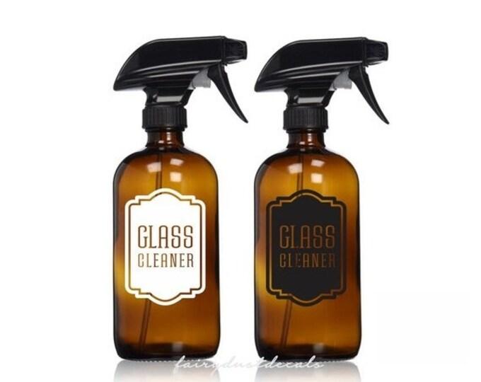 Decal for Glass Cleaner Spray Bottle, vinyl label