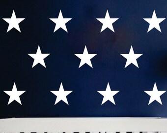 Star Wall Decals, American Flag Star Vinyl Sticker, Patriotic Star Decals, Nautical Star Wall Decals