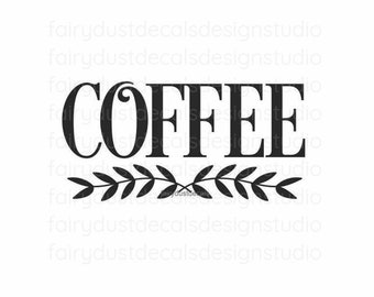 Coffee Decal, glass jar canister label, dessert table coffee station vinyl decal