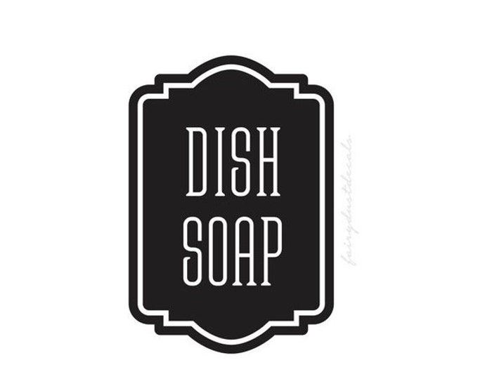 10% off sale Dish Soap Dispenser Decal, Label for Kitchen Soap, Soap Decal, Farmhouse Bath, Dish Soap Vinyl Decal Label Sticker, Soap Dispen