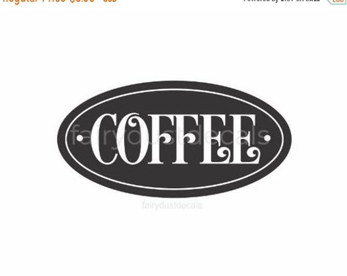 10% off sale Coffee Decal