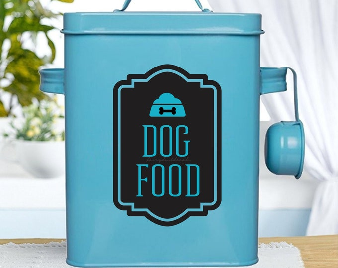 Dog Food Container Decal, Sticker for Dog Food Canister, dog food label