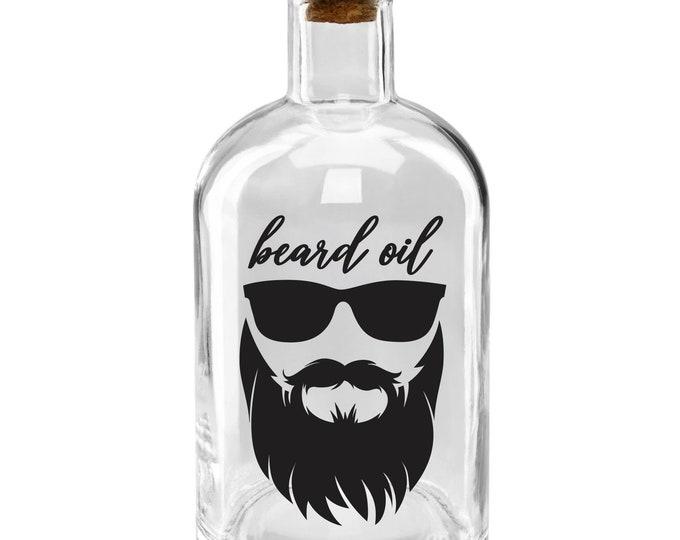 Beard Oil Label for glass dispenser bottle, beard oil vinyl decal, gift for men, hipster design